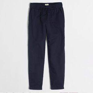 J.Crew Navy Cotton Gauze Drawstring Pants